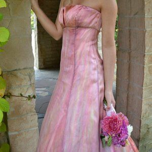 Vera Wang Wedding dress gown pink ivory 2 4 6 8